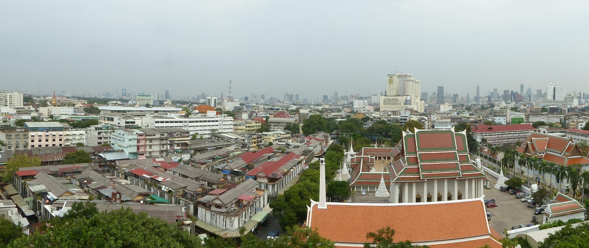 Herrlicher Blick über Bangkok